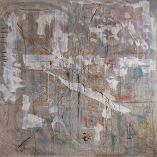 SOLD -  A large squiggle  200 x 200 cm