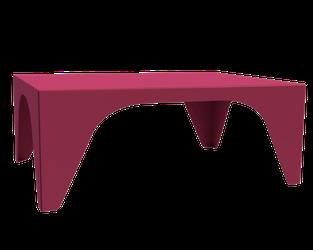 Table basse couleur telemagenta pour salon.