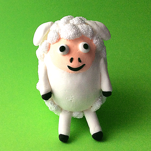 Wolkenschleim, Foam Clay, Ostern, Osterdeko, Knete,  Easter, Sheep, Schaf, bastelideen