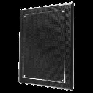 carbon fiber floating acrylic plaque