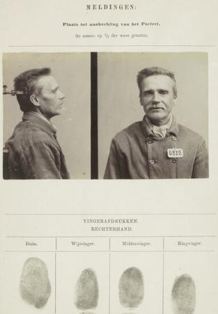 Signalementkaart Veenhuizen opname: 21-08-1896