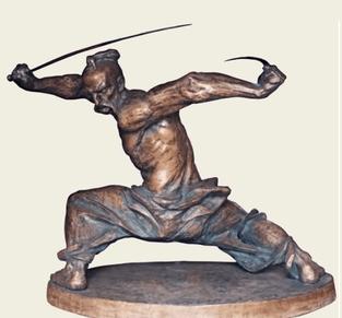 Скульптура козака-характерника (автор  О. Бадьо)