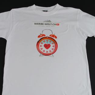 T-Shirt druck Adliswil. beispiel gedruckte t-shirts mti einfache design und logo. für firmen drucken wir auch alle art textilien, hemden, kochjacke, schürze,