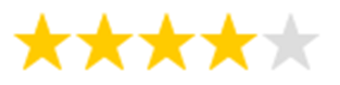 4 Sterne Bewertung für die Evotears Augentropfen (Augentropfen Test, Trockene Augen, Sicca Syndrom)