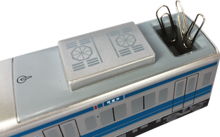 テープカッター 電車型 クリップBOX