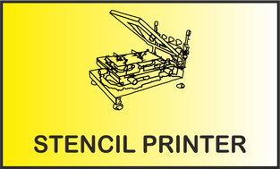Stencil printer Pastendrucker