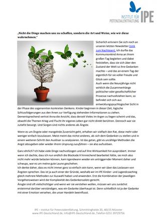 """Themenletter Mai 16  """"Gedankensalat"""""""