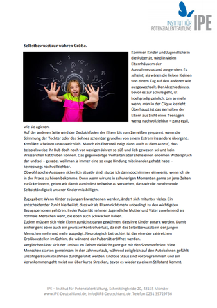 """Themenletter Juli 16  """"Wenn Kinder erwachsen werden"""""""