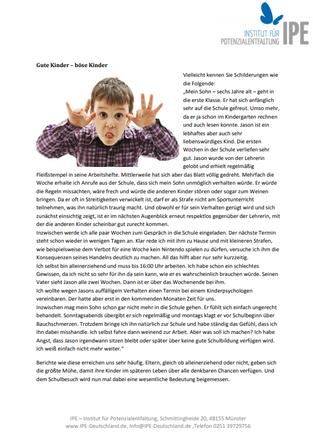 """Themenletter März 16  """"Vier Schritte für eine bessere Kommunikation mit Kindern"""""""
