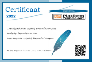 Certificaat Brownie camera