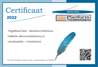 Certificaat DenRonCollections