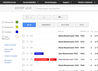 dstip v20 effizientes bewerbermanagement fr das deutschlandstipendium - Bewerbung Deutschlandstipendium