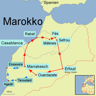 Bild: Reiseroute Marokko
