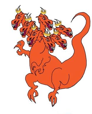 Alors que la femme céleste, l'organisation spirituelle de Dieu, est sur le point de donner naissance aux futurs dirigeants de la Terre, apparaît un dragon couleur rouge feu avec 7 têtes et 10 cornes comme les bêtes d'Apocalypse 13 et 17.