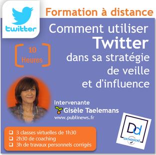 Formation Twitter à distance