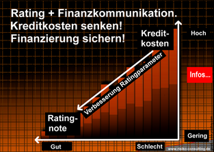 Risiko-Consulting: Rating & Finanzkommunikation erweitern die finanzielle Handlungsfähigkeit.