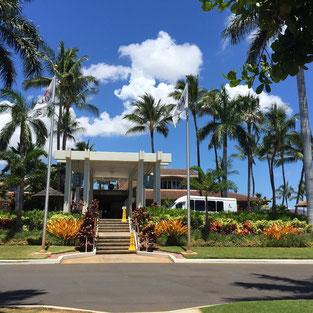 ハワイ オアフ ゴルフ場送迎 コオリナゴルフクラブエントランス