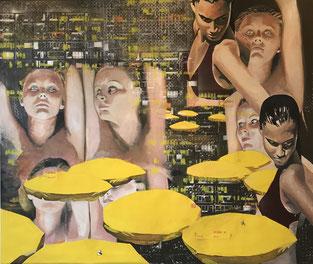 """""""Gelbe Sonnenschirme"""" von Franziska Kuo"""