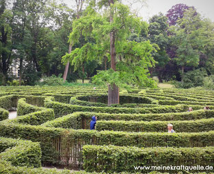 rechter oder linker Weg, Irrgarten, Mut, Labyrinth