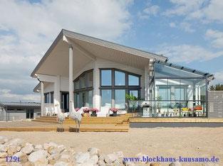 Blockhaus als Zweitwohnhaus am See, 129 m²