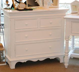 白家具 フランス家具 ドレッサー チェスト デスク ドレッサーチェスト カントリーコナー