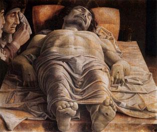 OmoGirando la Pinacoteca di Brera - Mantegna, Compianto sul Cristo morto