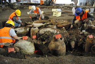 Scavi archeologici preventivi alla fermata della Metro C San Giovanni