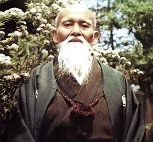 """""""Wahres Budō dient jedoch nicht einfach dazu, den Gegner zu zerstören; es ist viel besser einen Angreifer geistig zu besiegen, so dass er seinen Angriff gerne aufgibt"""" (Morihei Ueshiba)"""