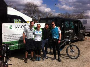 Erstes e-Mountainbike-Rennen mit e-Bikes von e-motion