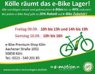 Rabatt-Aktion e-motion Köln