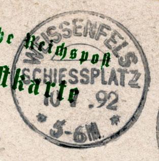 WEISSENFELS SCHIESSPLATZ * * 10.7.1892