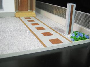 住宅模型の外構部分の画像