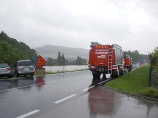 Hochwasser in Hofstetten-Grünau