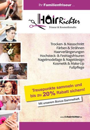 dieHairRichter Treuepunkte Bonus-Sammelkarte Friseursalon Kaulsdorf und Hellersdorf - bis zu 20% Rabatt.