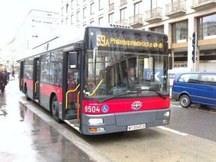 ウィーンの市バス