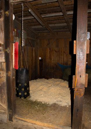 Das Spänebett im Stall