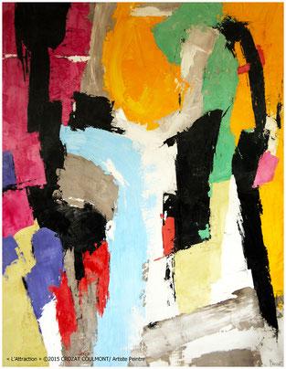 Art contemporain- Oeuvre abstraite originale unique (Enduit de chaux/ bois)/ Tableau peinture