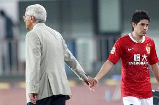 Marcello Lippi e Dario Conca ai tempi del Guangzhou Evergrande