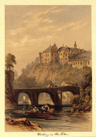"""George Barnard: Weilburg on the Lahn – """"Ansicht von Weilburg, um 1845"""", in: Historische Ortsansichten"""