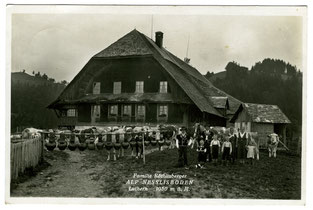 Luthern Alp Nesslisboden, Postkarte Stempel Rain 29.8.1936  (LW 14)