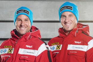 Am Bild die bereits fix für den Parallel-Weltcup in Hochfügen / Tirol qualifizierten Knauder-Brüder (Bild: Photo Credit W+K Photo)