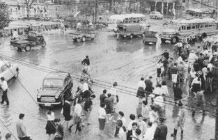 昭和33年「狩野川台風」王子駅前