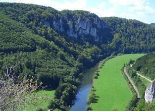 Das Donautal bei Thiergarten (© Geschäftsstelle Ferienland Hohenzollern e.V.)