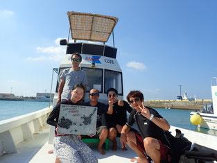 石垣島でのんびりダイビング「やっとの思いで」