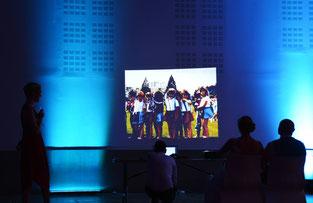 video projection dj