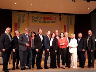 Bilduntertitel: Die gesamte Führungsspitze der Rheinland-Pfälzischen FDP war zum Neujahrsempfang gekommen. Foto: D.Herminghaus