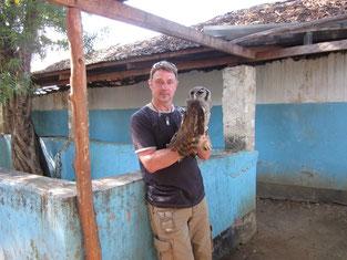 mal ohne Schlange....auf einer Reptilienfarm in Mombasa/Kenya