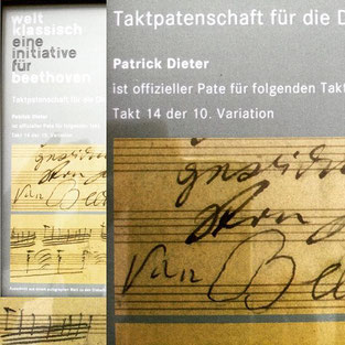 Beethoven-Haus Bonn, Ludwig van Beethoven, Taktpatenschaft