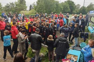 Viel Betrieb auf der Herbert-Schade-Sportanlage beim 1. Klingenstadt Cup des 1. FC Solingen (Foto: 1. FC Solingen/Vito Asta))
