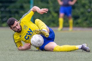 Hani Bali im vollen Einsatz für den 1. FC Solingen. Auf solche Bilder können wir uns auch in der kommenden Saison freuen. (Foto: 1. FC Solingen Media Team)